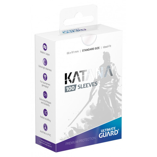 Ultimate Guard Katana Translucent Standard Size Card Sleeves [100 Count]