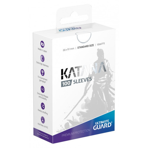 Ultimate Guard Katana White Standard Size Card Sleeves [100 Count]
