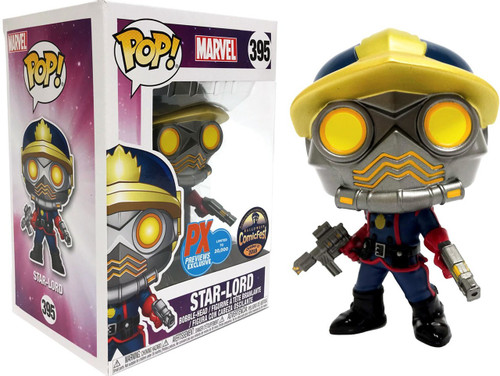 Funko Guardians of the Galaxy POP! Marvel Star-Lord Exclusive Vinyl Bobble Head #395 [Classic Comic Version, Damaged Package]