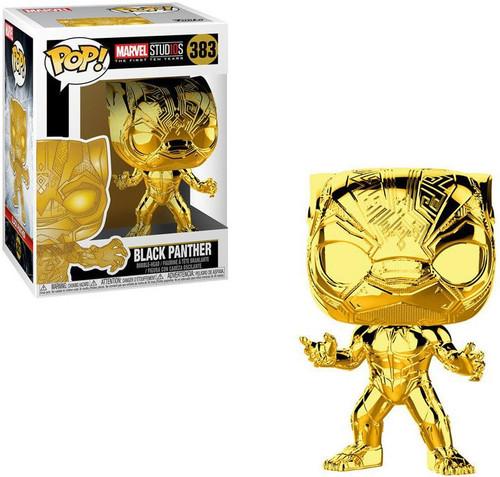 Funko Marvel Studios 10 POP! Marvel Black Panther Vinyl Bobble Head #383 [Gold Chrome, Damaged Package]