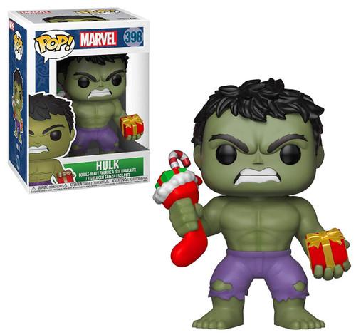 Funko Marvel Universe Marvel: Holiday POP! Marvel Hulk Vinyl Figure #398 [Stocking & Presents, Damaged Package]