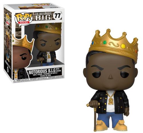 Funko POP! Rocks Notorious BIG (Biggie Smalls) Vinyl Figure #77 [Crown, No Glasses, Damaged Package]