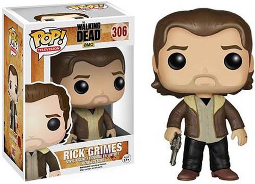 Funko The Walking Dead POP! TV Rick Grimes Vinyl Figure #306 [Season 5, Damaged Package]