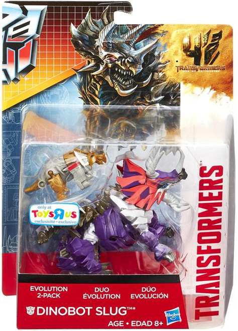 Transformers Age of Extinction Duo Evolution Dinobot Slug Exclusive Action Figure 2-Pack [Damaged Package]
