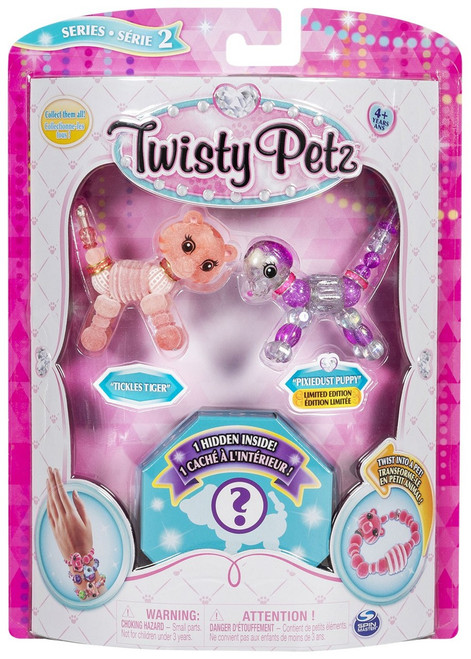 Twisty Petz Series 2 Tickles Tiger, Pixiedust Puppy & Surprise 3-Pack