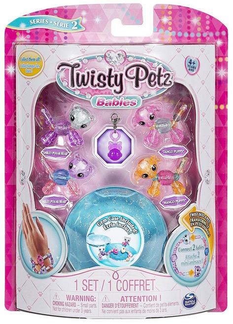 Twisty Petz Babies Series 2 Smiley Polar Bear, Miley Polar Bear, Tango Puppy & Mango Puppy 4-Pack