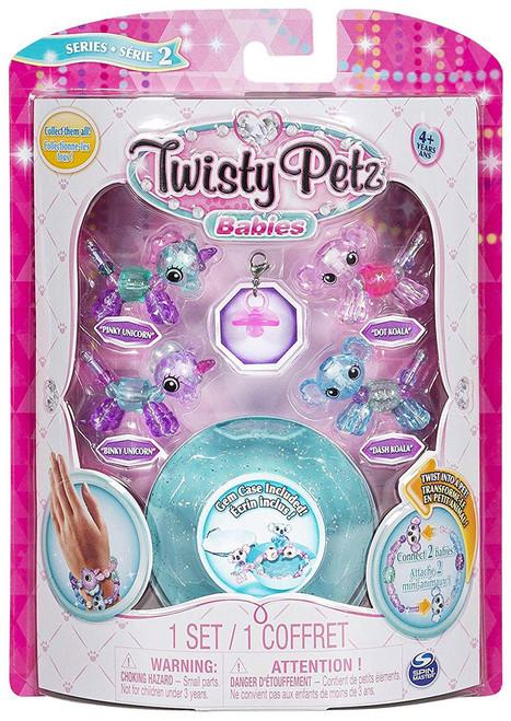 Twisty Petz Babies Series 2 Pinky Unicorn, Blinky Unicorn, Dot Koala & Dash Koala 4-Pack