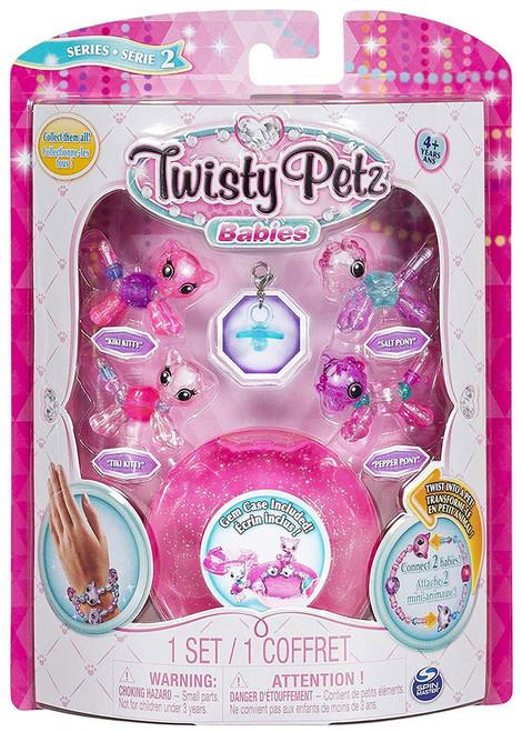 Twisty Petz Babies Series 2 Kiki Kitty, Tiki Kitty, Salt Pony & Pepper Pony 4-Pack