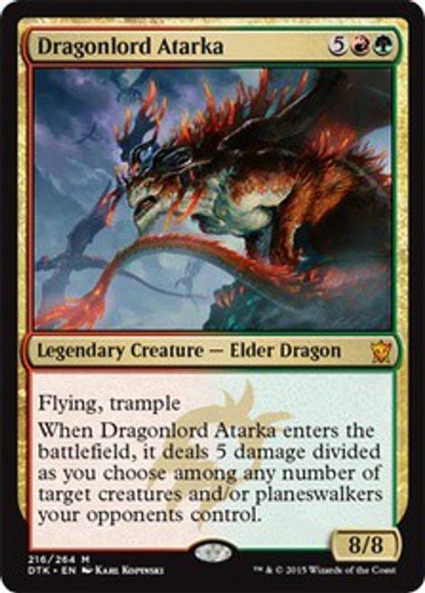 MtG Dragons of Tarkir Mythic Rare Foil Dragonlord Atarka #216