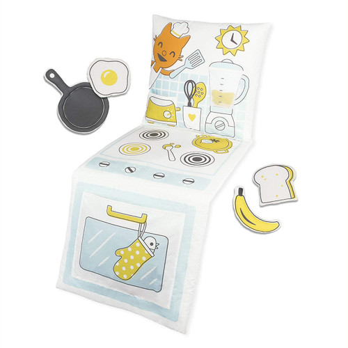 Sago Mini 2 in 1 Fold Up Jinja's Kitchen Pillow Playset