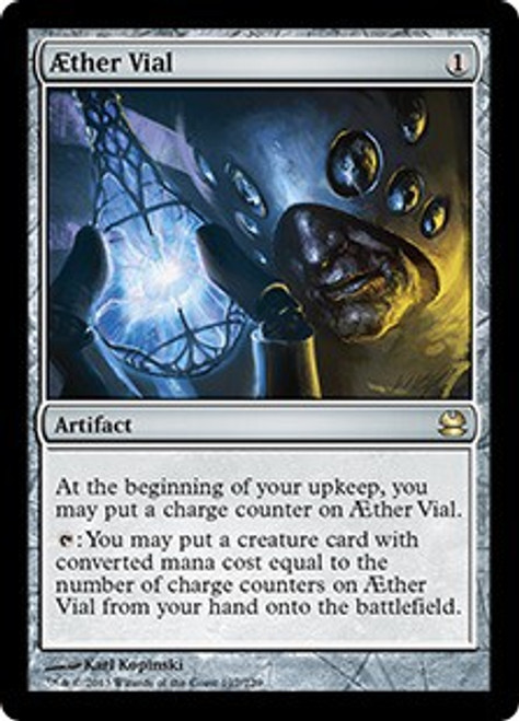 MtG Modern Masters Rare Foil AEther Vial #197 [Played]