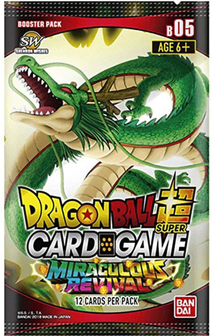 Dragon Ball Super Collectible Card Game Series 5 Miraculous Revival Booster Pack [12 Cards]
