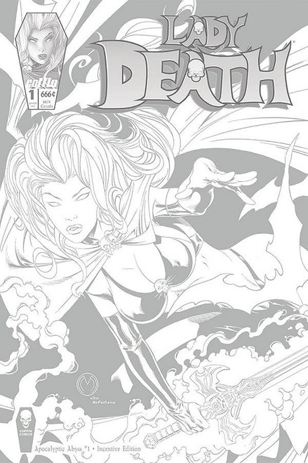 Coffin Comics Lady Death: Apocalyptic Abyss #1 Comic Book [Mychaels Variant Cover]