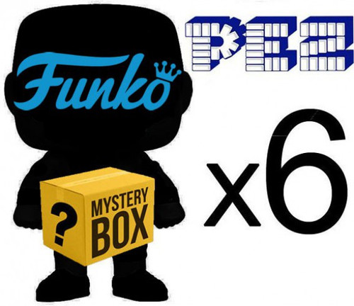 Funko POP! PEZ MYSTERY BOX LOT of 6 Funko POP! PEZ [Completely Random, No Duplicates Per Box!]
