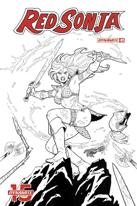Dynamite Entertainment Red Sonja #1 Comic Book [Amanda Connor Black & White Variant Cover]