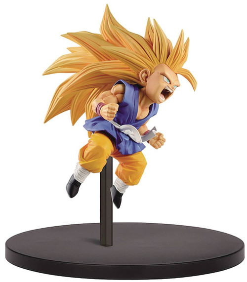 Dragon Ball GT FES!! Super Saiyan 3 Son Goku 3.9-Inch Collectible PVC Figure Vol.10 [Blue Gi]