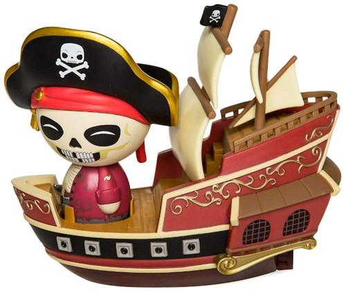 Funko Disney Pirates of the Caribbean Dorbz Ridez Jolly Roger with Pirate Ship Vinyl Figure