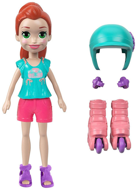 Polly Pocket Roller Chic Lila 3.75-Inch Mini Figure
