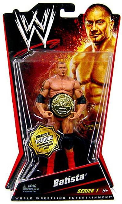 WWE Wrestling Series 1 Batista Basic Action Figure [1 of 1000 Commemorative Belt]