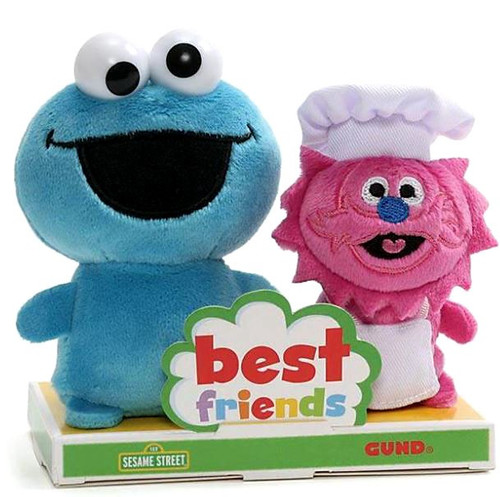Sesame Street Best Friends BFF Cookie Monster & Gonger 4-Inch Plush Set