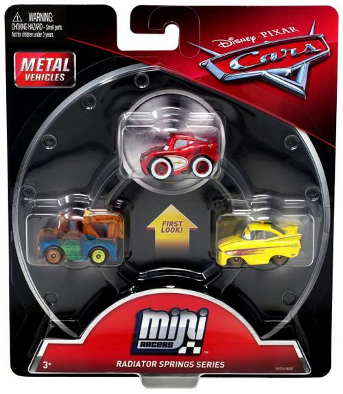 Disney / Pixar Cars Die Cast Mini Racers Cruisin' Lighting McQueen, Mater & Ramone Car 3-Pack