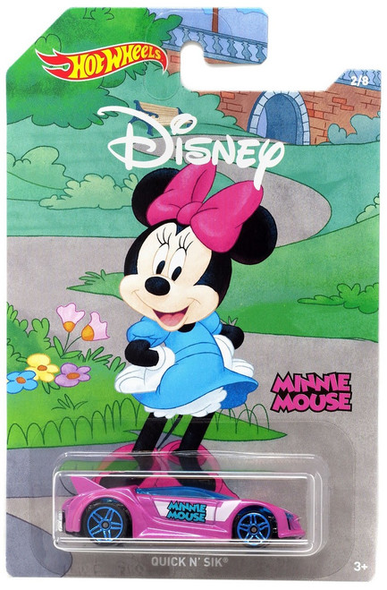 Disney Hot Wheels Mickey the True Original Quick N' Sik Die Cast Car #2/8 [Minnie Mouse]