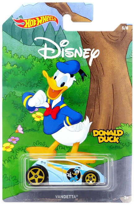 Disney Hot Wheels Mickey the True Original Vandetta Die Cast Car #5/8 [Donald Duck]