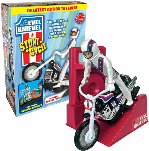 Evel Knievel Stunt Cycle Action Figure [Red Launcher]