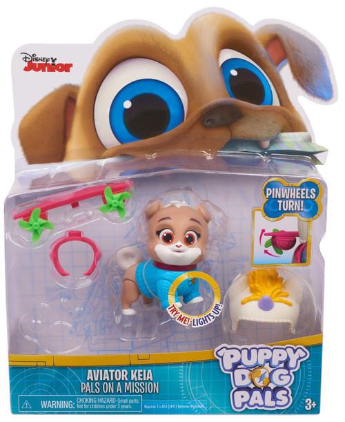 Disney Junior Puppy Dog Pals Light Up Pals On A Mission Aviator Keia Action Figure