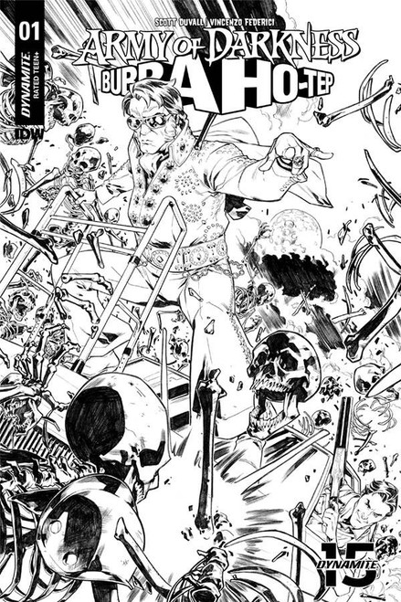 Dynamite Entertainment Army of Darkness Vs. Bubba Hotep #1 Comic Book [Gomez Black & White Variant]