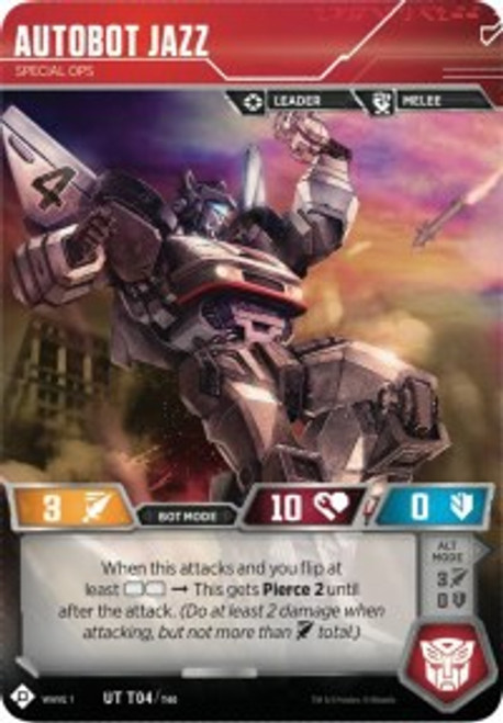 Transformers Trading Card Game Wave 1 Uncommon Autobot Jazz - Special Ops T04