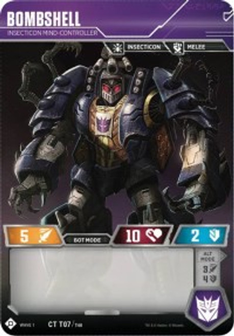 Transformers Trading Card Game Wave 1 Common Bombshell - Insecticon Mind-Controller T07