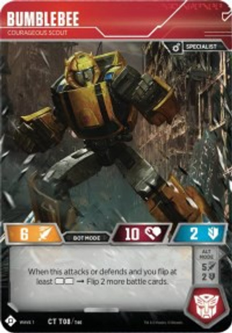 Transformers Trading Card Game Wave 1 Common Bumblebee - Courageous Scout T08