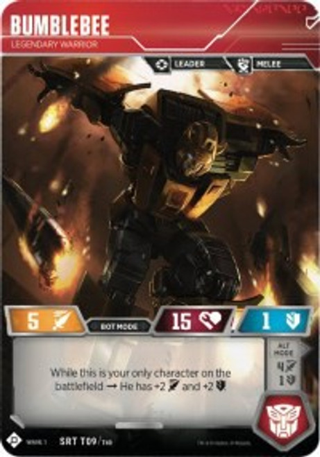 Transformers Trading Card Game Wave 1 Super Rare Bumblebee - Legendary Warrior T09