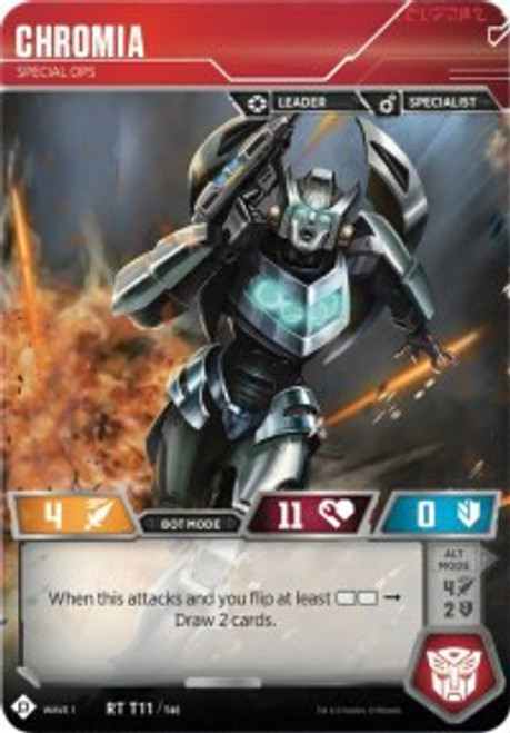 Transformers Trading Card Game Wave 1 Rare Chromia - Special Ops T11
