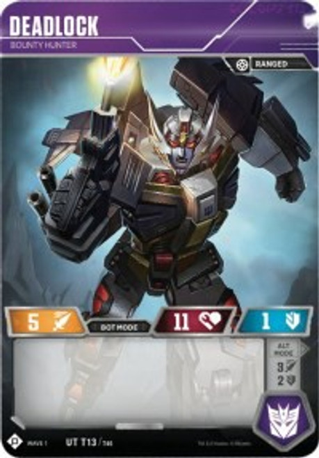 Transformers Trading Card Game Wave 1 Uncommon Deadlock - Bounty Hunter T13