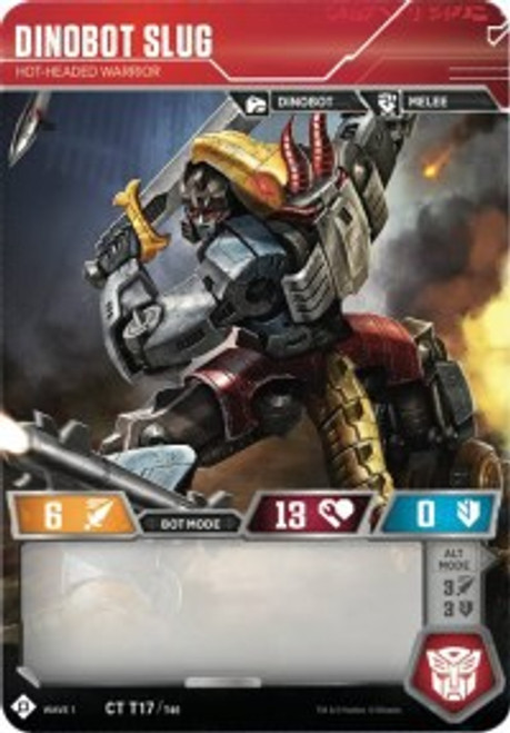 Transformers Trading Card Game Wave 1 Common Dinobot Slug - Hot-Headed Warrior T17