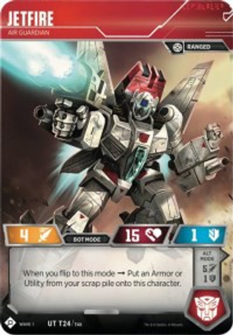 Transformers Trading Card Game Wave 1 Uncommon Jetfire - Air Guardian T24