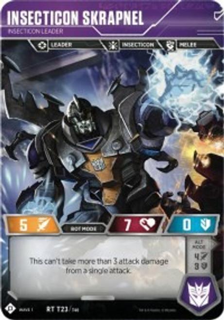 Transformers Trading Card Game Wave 1 Rare Insecticon Skrapnel - Insecticon Leader T23