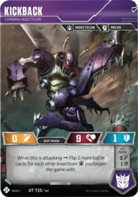 Transformers Trading Card Game Wave 1 Uncommon Kickback - Cunning Insecticon T25