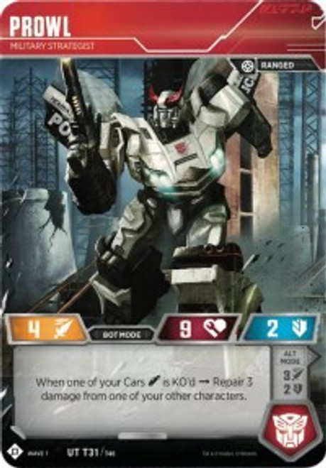 Transformers Trading Card Game Wave 1 Uncommon Prowl - Military Strategist T31