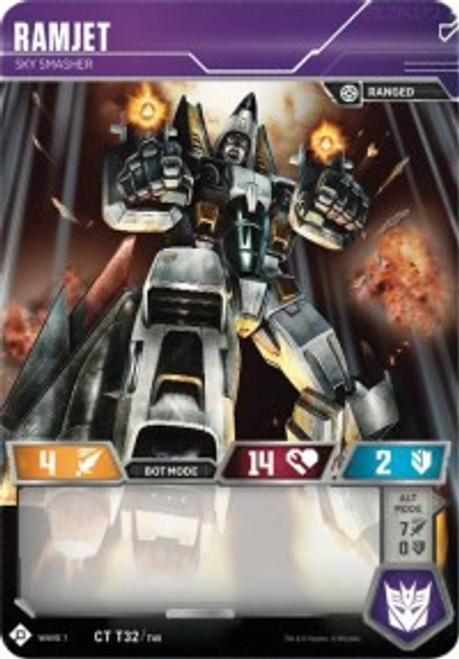 Transformers Trading Card Game Wave 1 Common Ramjet - Sky Smasher T32