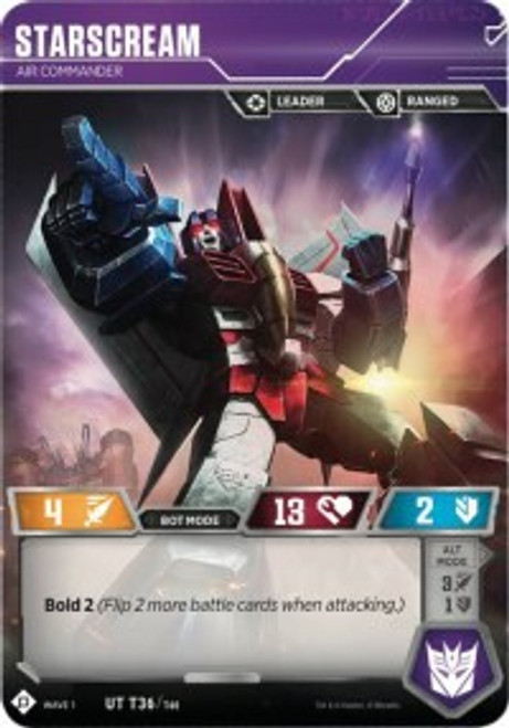 Transformers Trading Card Game Wave 1 Uncommon Starscream - Air Commander T36
