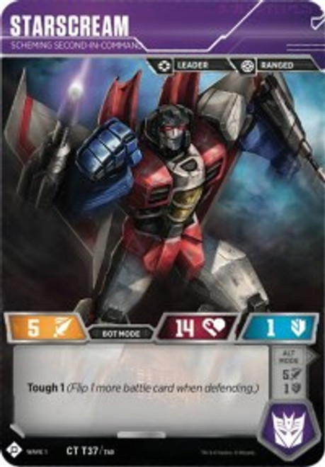 Transformers Trading Card Game Wave 1 Common Starscream - Scheming Second-in-Command T37