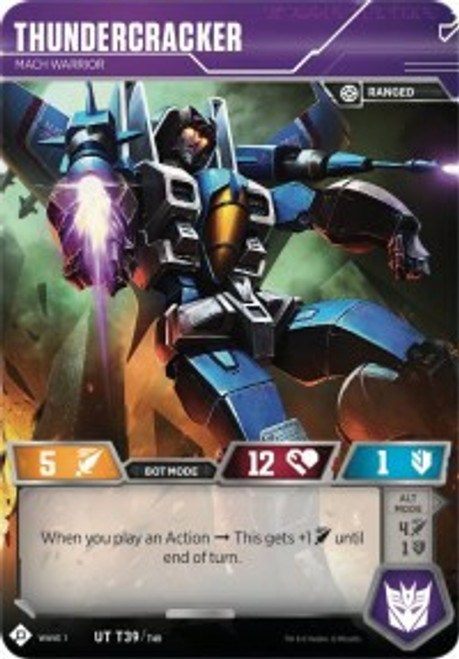 Transformers Trading Card Game Wave 1 Uncommon Thundercracker - Mach Warrior T39