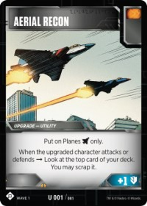 Transformers Trading Card Game Wave 1 Uncommon Aerial Recon #001