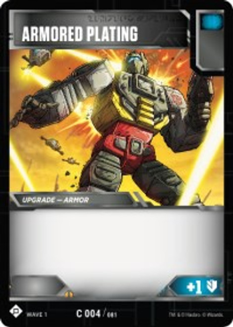 Transformers Trading Card Game Wave 1 Common Armored Plating #004