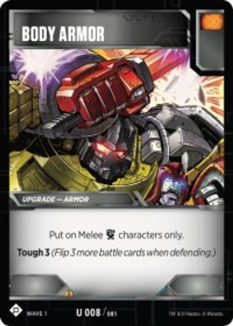 Transformers Trading Card Game Wave 1 Uncommon Body Armor #008