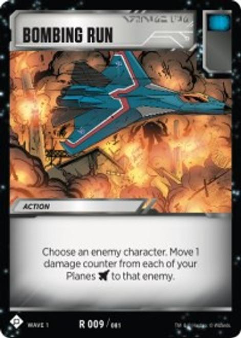 Transformers Trading Card Game Wave 1 Rare Bombing Run #009