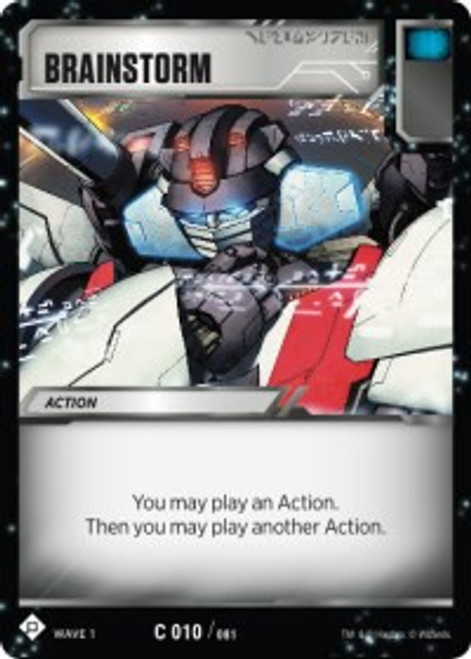 Transformers Trading Card Game Wave 1 Common Brainstorm #010